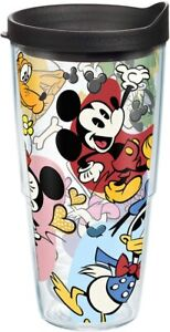 Tervis Disney - Classic Characters Tumbler with Wrap and Black Lid 24 oz Clear