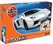 """Nueva marca Airfix rápida Build """"se ajusta el cuadro de"""" Lamborghini Aventador Modelo Kit."""