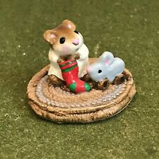 WEE FOREST FOLK First Christmas Mouse Stocking Wm Petersen M-093 1983 RETIRED