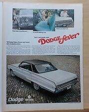 1967 magazine ad for Dodge - white Polara, Low Long and Roomy, colorful