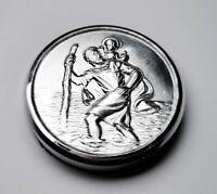 Heiliger Sankt Christophorus Relief 45 mm Plakette Magnet Halter Christopherus