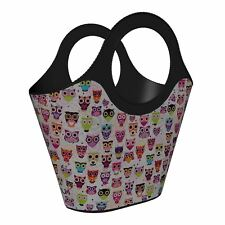 More details for maqio plastic tote bag decorative owls