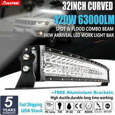 CREE 32Inch 420W CURVED Spot Flood LED Work Light Bar SUV Boat OFF ROAD TRUCK 30