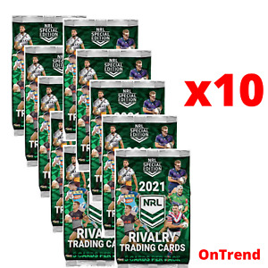10 x 2021 TLA NRL Rivalry Trading Cards Sealed Packs 50 cards