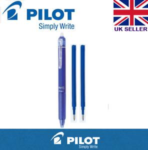 Pilot Frixion Point Clicker Erasable Rollerball Pen 0.5mm BLUE PEN+2 Refills