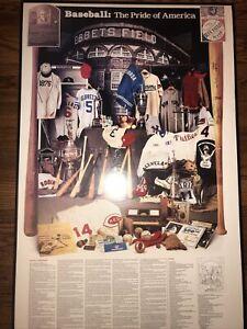 BASEBALL : The Pride Of America Framed Poster VINTAGE 24x37 Major League 1984