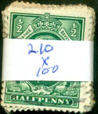 Great Britain Sg-439, Scott # 210, Used, 100 Stamps, Great Price!