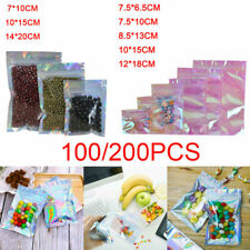 More details for holographic aluminum foil resealable mylar zip lock pouch bags food storage bags