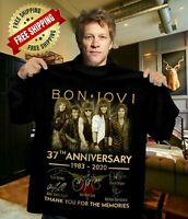BON JOVI - 37TH ANNIVERSARY 1983-2020  10 SHIRT