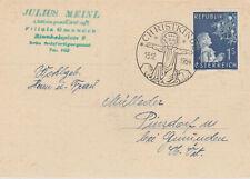 Christkindl 13.12.1954 auf Julius Meinl Karte