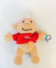 "90s Vintage McDonalds Troll-kins Doll 10"" 1991 Plush Troll ACME Plushie Trollkin"