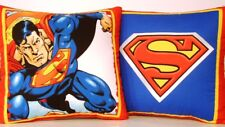 Superman D.C. Comics w/ Family Crest,  One Cotton Pillow 2 Different Prints New