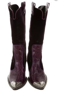 Giuseppe Zanotti  embellished Women's VELVET PURPLE Western  Boots US 41 $1195