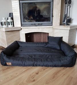 Hundebett Sofa wasser schmutz abweisend inkl. Kissen XXL große Hunde SCHWARZ