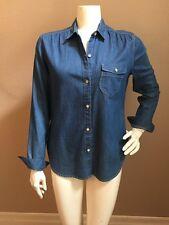 GAP 1969 NEW! Women's Single Flap Pocket Argan Wash Chambray Shirt Sz S NWOT!