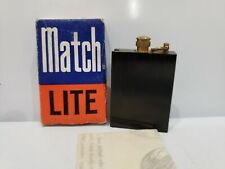 Match Lite Striker BLACK Lighter New / Vintage Retro with Box & Instructions