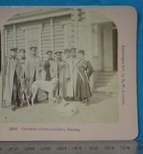 More details for 1890s stereoview photo russia cossack's commanders russia borzoi dog kilburn