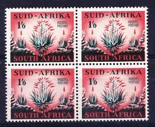 South Africa 1953 Aloe Vera Flower Motif - 1/6d MNH block of 4  - (26)