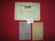 N°10139 /  catalogue carburateur SOLEX 1929,1941 et 1978