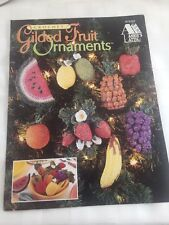 Crochet Gilded Fruit Ornaments From Annie's Attic  - RARE and HTF
