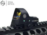 SPINA 1x25 Mini Reflex Sight 3 MOA Dot Reticle Red Dot Sight Scope with QD