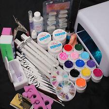 ON SALE 36W UV GEL Lamp Dryer 12 Soild Color UV Gel Nail Art Tools Set Kit