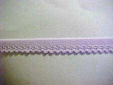Elastic 1/2 Lavender Barbie PURPLE Dainty Picot Scalloped Edged 5 yds 12385