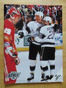LOS ANGELES KINGS vs VANCOUVER CANUCKS October 6, 1990 Program WAYNE GRETZKY