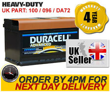DA72 Duracell Advanced 12V Car Battery 100 / 096 - fits many Porsche Renault