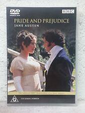 PRIDE AND PREJUDICE (DVD) Jane Austen BBC MINI SERIES - Colin Firth - 5 HOURS !