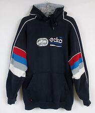 ECKO Unltd Hooded Heavy LG Navy Sweatshirt Graphics Lined Puffy Logo Optimist