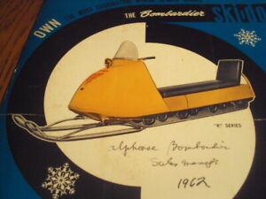 1963 Vintage BOMBARDIER SKI DOO Snowmobile Brochure