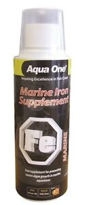 Marine Tank Iron Supplement Fish Aquarium Aquatic 250ml Aqua One
