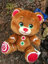 "Build a Bear 8"" Gingerbread Bear Mini Plush Toy - NEW"