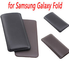 Usa For Samsung Galaxy Fold Smart Phone Slim Case Cover Microfiber Leather Bag