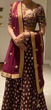 "Beautiful Indian bridal lehenga choli wedding from Seasons. Model is 5'6"""