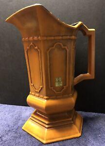 Vintage Royal Haeger Ceramic Pottery Orange Pitcher/Vase with Sticker