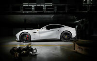 "FERRARI F12 BERLINETTA A3 CANVAS PRINT POSTER FRAMED 16.5"" x 11.1"""