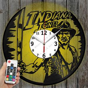 LED Clock Indiana Jones Vinyl Record Clock Art Decor Original Gift 4537