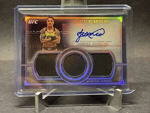 2019 TOPPS UFC MUSUEM JESSICA ANDRADE SIGANTURE SWATCHES TRIPLE PATCH AUTO /199