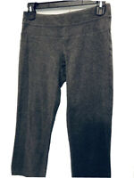 Women's Grey GAP BODY Capri Stretch Workout Leggings Fold-Over Waist. Sz XS Pant