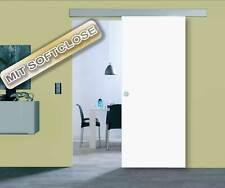 XXL Holzschiebetür Weiß mit Beschlag bis 106x209 cm - Holz Schiebetür