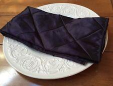 "New Pack of 12 Plum Eggplant Purple Pintuck Napkins 19.5"" Sq Multiple Avail."