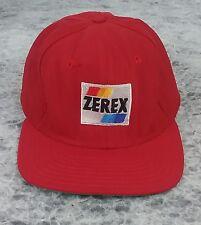 Vintage Zerex Red New Era Snapback Trucker Hat Made In USA Cap