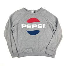 TOPSHOP Tee and Cake 'Pepsi' Sweatshirt Crewneck size 6 Gray Women's Sweater
