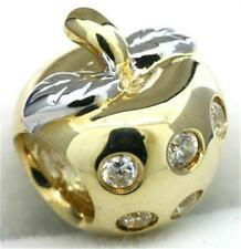 Strawberry Diamond 9K 9ct 375 Solid Gold Bead Charm Fits Major Brands