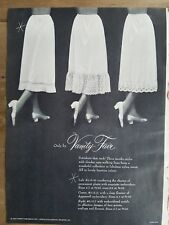 1954 women's pettiskirts half slips lace trim only by Vanity Fair vintage ad