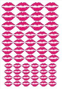 55 Lips Kiss vinyl stickers / decals, various size ,  Car, Laptop, Glass, craft