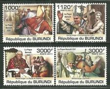 BURUNDI 936-39 MNH POPE BENEDICT XVI SCV 12.50