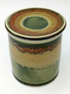Pottery Art Studio Stoneware French Soft Butter Keeper Bell Crock Glazed Signed